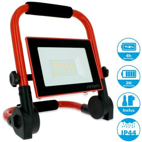 20W LED Rechargeable Projecteur Torche Lampes De Travail Portable Chantier Poche