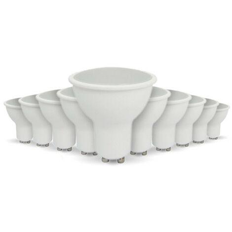 Lot de 10 ampoules LED GU10 5W eq 40W   Température de Couleur: Blanc neutre 4000K