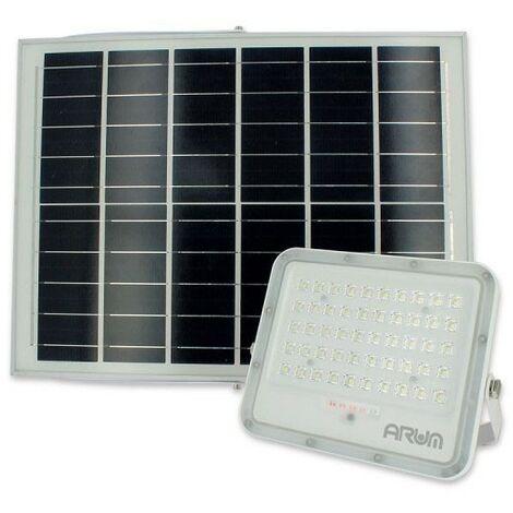 Projecteur Solaire MENDOZA 50W LED avec son Panneau Solaire et Télécommande   Température de Couleur: Blanc neutre 4000K