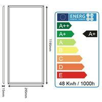 Dalle lumineuse LED 48W 1200 x 300 mm garantie 3 ans | Température de Couleur: Blanc neutre 4000K