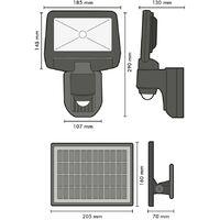 Projecteur solaire LED ESTEBAN à détection 850 Lumens Eq 70W