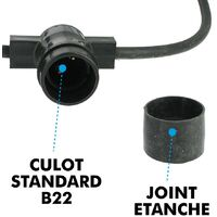 Guirlande Guinguette 10 Culots B22 10 mètres Interconnectable