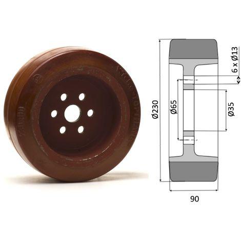 Roue motrice 230 x 90 - 6 trous . ( Fenwick 0039902320 )