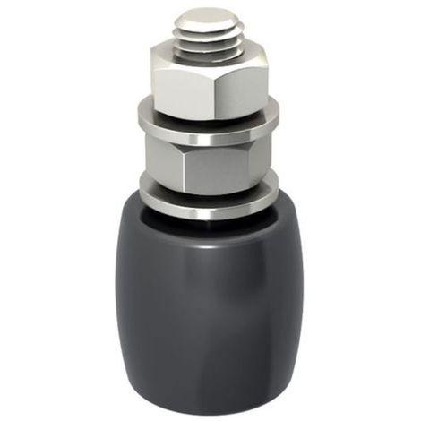 Guide olive nylon noir bombé diamètre 40 x 40 hauteur 84 vis de 14 mm
