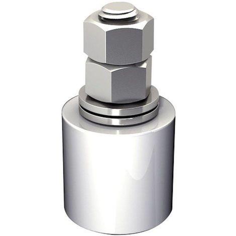 Guide olive nylon blanc diamètre 25 x 35 hauteur 65 vis de 14 mm