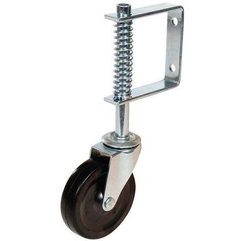 Roulette diamètre 100 mm à  suspension pour portail - 57 Kg