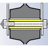 Entretoise pour roue alésage 20 longueur de moyeu 75 vis de 12