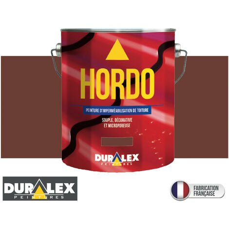 Peinture Toiture Renovation Impermeabilisation ROUGE TUILE - DURALEX - 3 litres - ROUGE TUILE