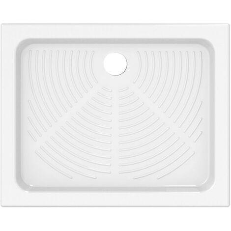 Plato de ducha de cerámica 90x72 cm   Blanco