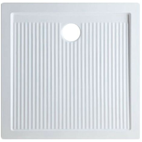 Plato de ducha 70x70 cm en cerámica serie Ariston   Blanco