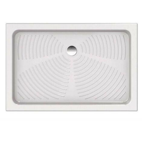 Plato de ducha 120x80 cm en cerámica blanca | Blanco
