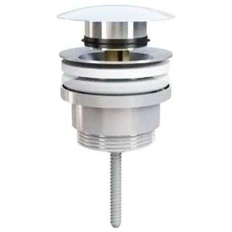 Válvula universal clic clac de latón cromado para lavabo o bidé | cromado brillante
