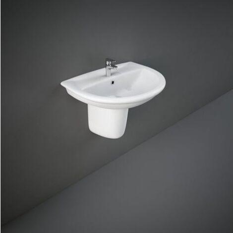 Lavabo suspendido 60x48,5 cm de cerámica serie Oxford | Blanco brillo - Standard