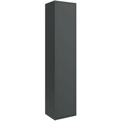 Columna de baño suspendida Ulisse de madera Negro mate | negro