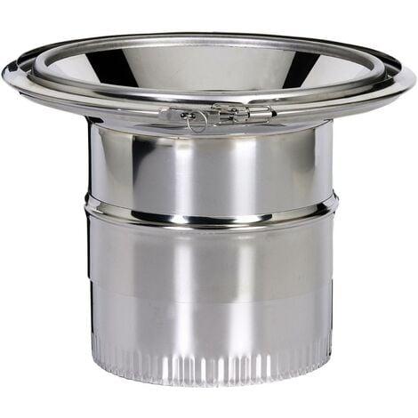 Réduction pour fumisterie émaillée - Raccord haut pour jonction conduit isolé inox-galva intérieur Ø 230 avec conduit émaillé Ø 150