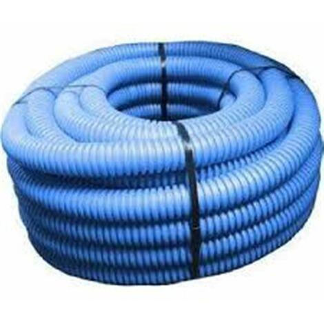 Gaine TPC annelée bleue - Diamètre : 63 mm - Couleur : BLEUE - Rouleau de 50 m