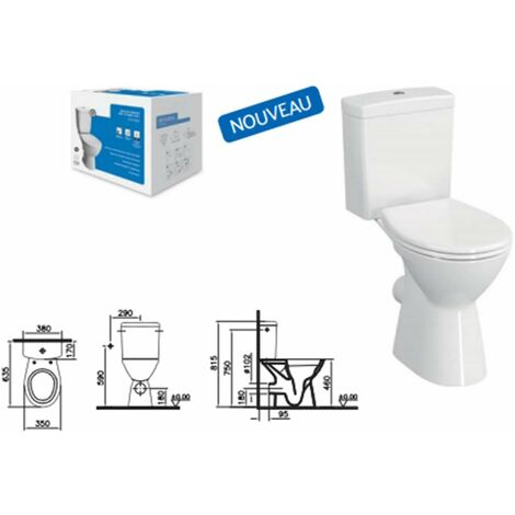 Normus Lift Pack WC à poser avec bride - Normus Lift Pack WC à poser PMR OB, 65 cm, avec bride