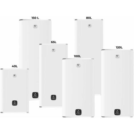 Chauffe-eau électrique MALICIO 3 - Multiposition - 80 litres - Puissance 2250 W - Couleur : Blanc