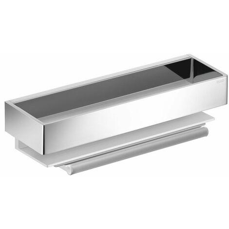 Porte-éponge EDITION 11 avec raclette intégrée - Aluminium argent anodisé / chromé