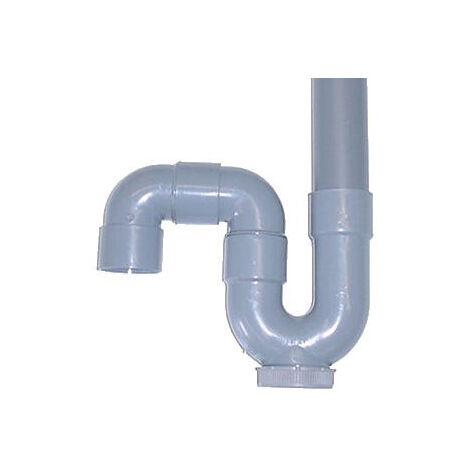Siphon de machine à laver en PVC - Sortie verticale - Diamètre 40 mm