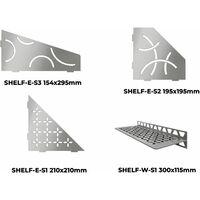 Tablette murale SHELF - TABLETTE FLORAL D'ANGLE SHELF-E-S1 ACIER INOX BROSSE 210x210mm