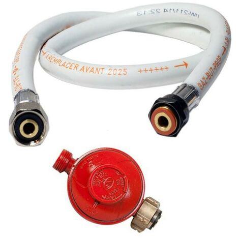 KIT Détendeur gaz Propane 37 mbar + Tuyau gaz butane/propane flexible 1.50 m