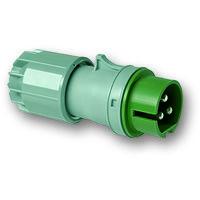 Clavija aérea IP44 3 polos 24/42V 32A 3h de color verde IDE 08414