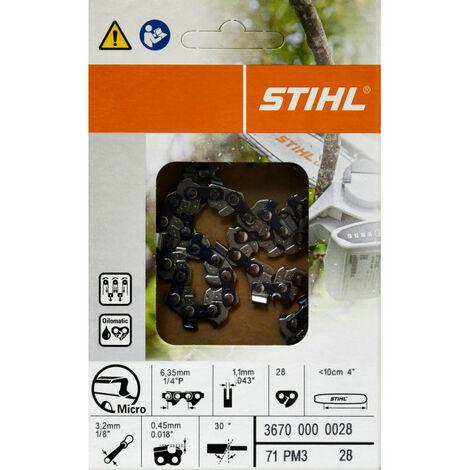 STIHL original Kette Sägekette 28TG PM3 für Stihl 1/4' 36700 000 028//GTA 26,MS150,MS150T,MSA160,MSA200,HT101