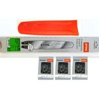 1 Schwert 45cm 4817 3 Stihl Sägeketten PM Picco Micro 3//8P-61E-1,3