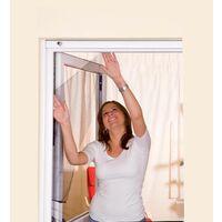 Moustiquaire fenêtre anthracite 18g/m² bande auto-agrippante 7,5 mm max 150x180 cm - Anthracite
