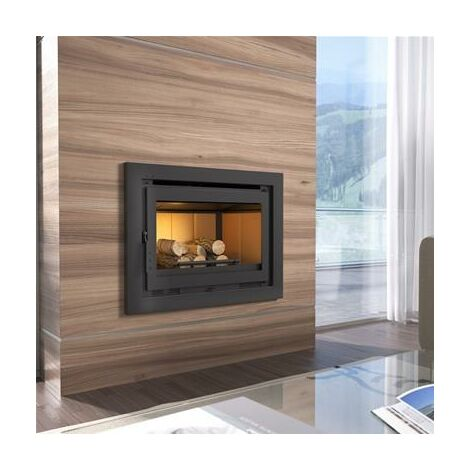 Insert de cheminée en acier 13.5 Kw acier