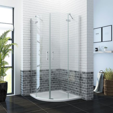 900 x 900mm Quadrant Shower Enclosure Pivot Hinge 6mm Glass Shower Cubicle Door