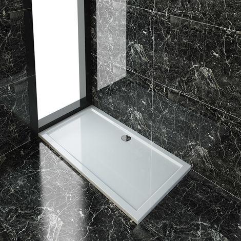 ELEGANT 1500 x 800 mm Stone Shower Tray + Waste Trap - Rectangular