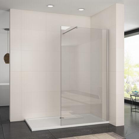 1100mm Frameless Wet Room Shower Screen Panel 8mm Easy Clean Glass Walk in Shower Enclosure