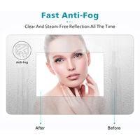 ELEGANT 800 x 600mm Vertical Illuminated LED Bathroom Mirror Light Touch Sensor with Demister