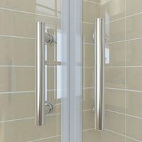 ELEGANT 900 x 900 mm offset Quadrant Shower Enclosure 6mm Tempered Sliding Glass Cubicle Door