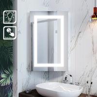 ELEGANT Illuminated Bathroom Mirror Cabinet with Lights Wall Mounted LED Bathroom Mirror with Shelf 450 x 700mm