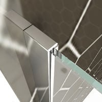 800mm Wet Room Shower Screen Panel 6mm Tempered Safety Glass Featured, Walk in Shower Enclosure with 1200x800mm Tray
