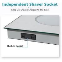ELEGANT 600 x 500mm Anti-foggy Wall Mounted Mirror,Frontlit LED Illuminated Bathroom Mirror with Bluetooth Audio
