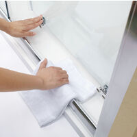 Modern Sliding Shower Cubicle Door Bathroom Shower Enclosure with Tray 1200 x 800 mm