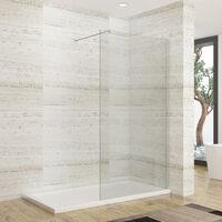 ELEGANT 1200mm Wet Room Shower Screen Panel 8mm Easy Clean Glass Walk in Shower Enclosure