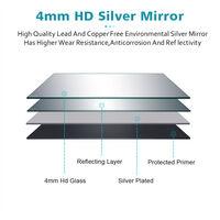 Belt Decorative Round Illuminated 600x600mm LED Light Bathroom Mirror Makeup Mirror with Sensor Touch control, Dustproof & Anti-fog,Cool White Light