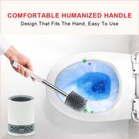 ELEGANT 1100mm L Shape Bathroom Vanity Sink Unit Storage,Right Hand High Gloss White Vanity unit + Basin + Ceramic D shaped Toilet with Concealed Cistern + toilet brush