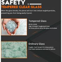 ELEGANT Frameless Wet Room Shower Screen Panel 8mm Easy Clean Glass Walk in Shower Enclosure 1000mm Clear Glass