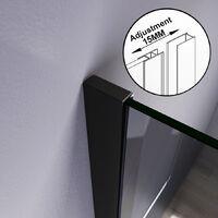 Elegant Black Shower Screen Shower Doors Walk in Shower Enclosure Wet Room Easy Clean 900 mm Black Frame 8mm Glass