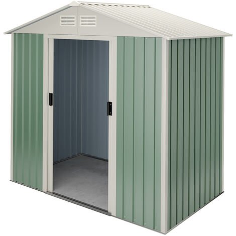 Caseta de jardín metálica Nybro 2,43m2 - 10 años garantía - 201x121x176cm. Cobertizo jardin
