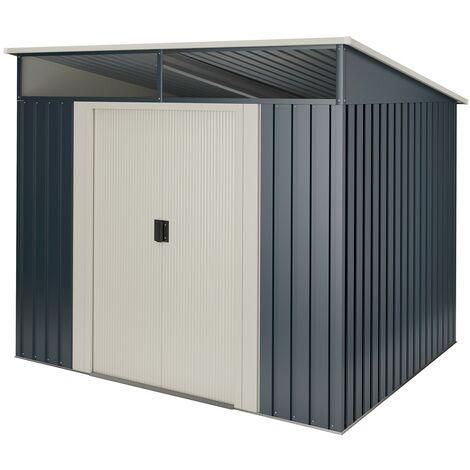 Caseta metal Wasabi Stark 2,3m2 - 10 años de garantía - 121x195x196cm. Cobertizo jardin