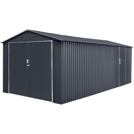 Garaje metal Tonsberg 18m2 - Garantía 15 años - 602x300x232cm.