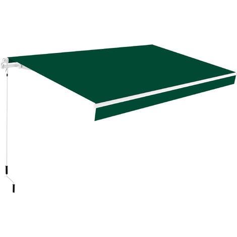 Toldo completo manual 3x2m Smartsun Verde lona poliéster
