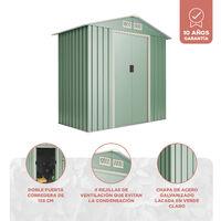 Caseta de metal Wasabi Light Green S 2,2 m2 - Garantía 10 años - 194x110x188 cm. Cobertizo jardin